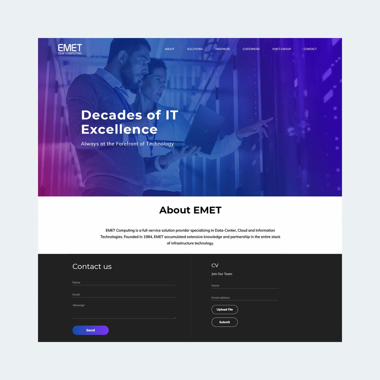 אתר תדמית EMET Group